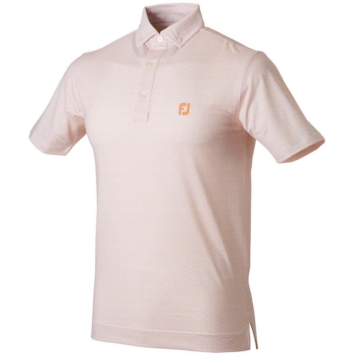 グラニットプリント半袖ポロシャツ