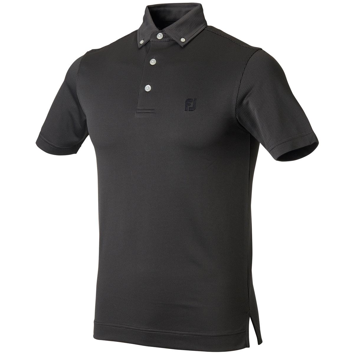 千鳥半袖ポロシャツ