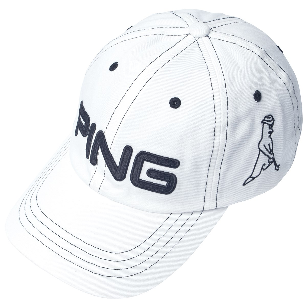 ピン PING アンストラクチャー 6パネルキャップ フリー ホワイト/ブラック