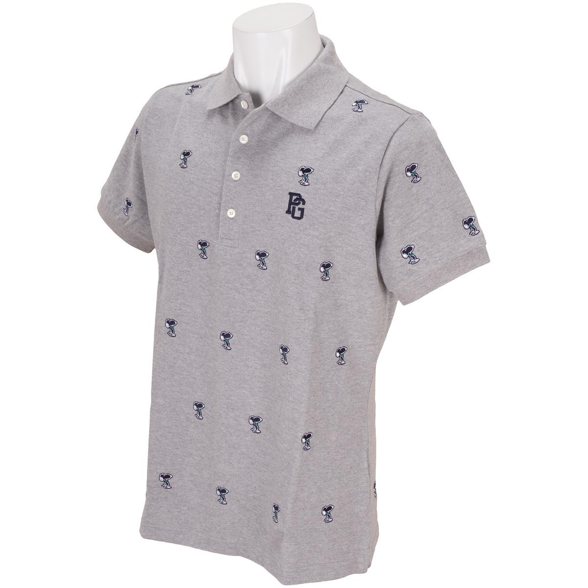 鹿の子 SNOOPYエンブ 半袖ポロシャツ