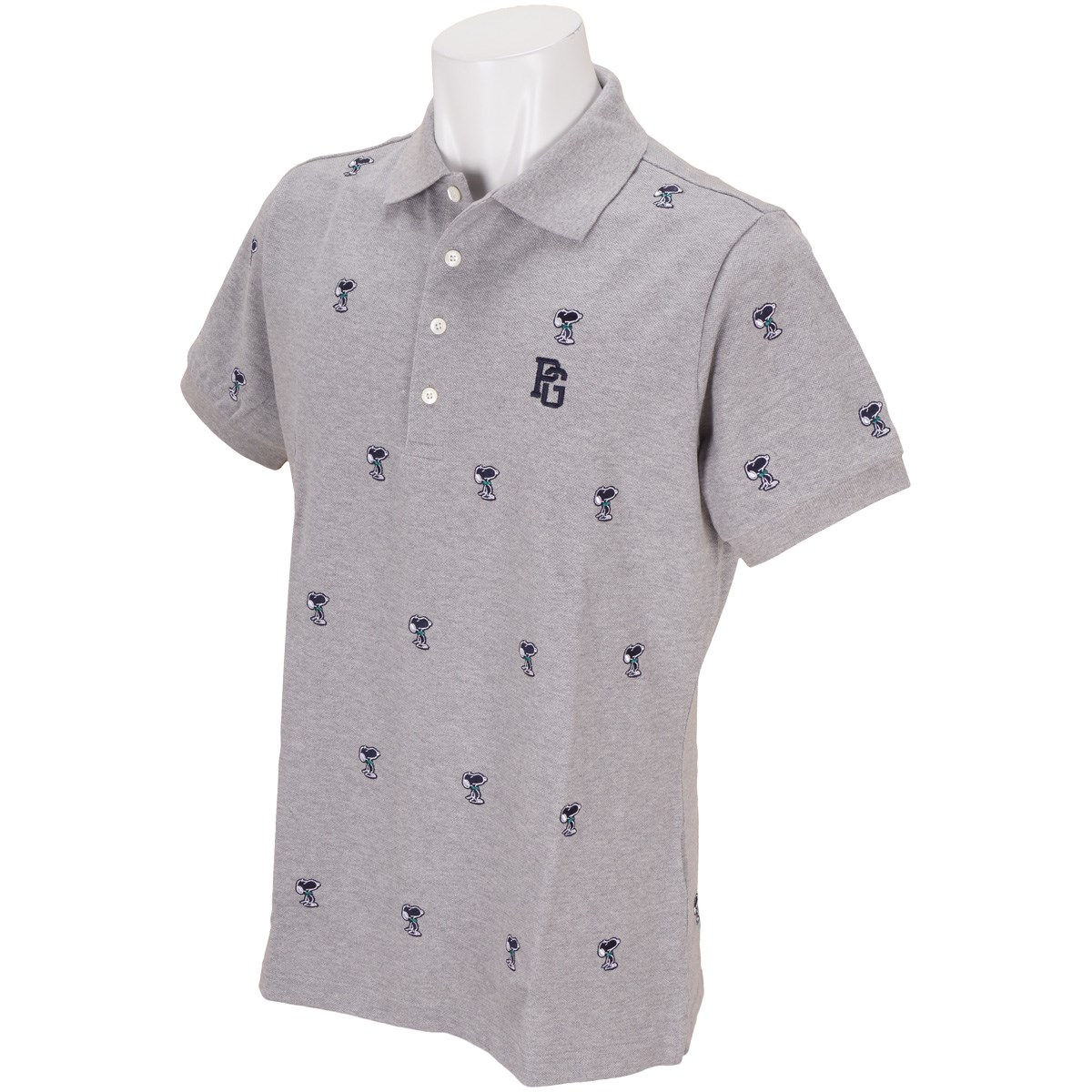 パーリーゲイツ 鹿の子 SNOOPYエンブ 半袖ポロシャツ
