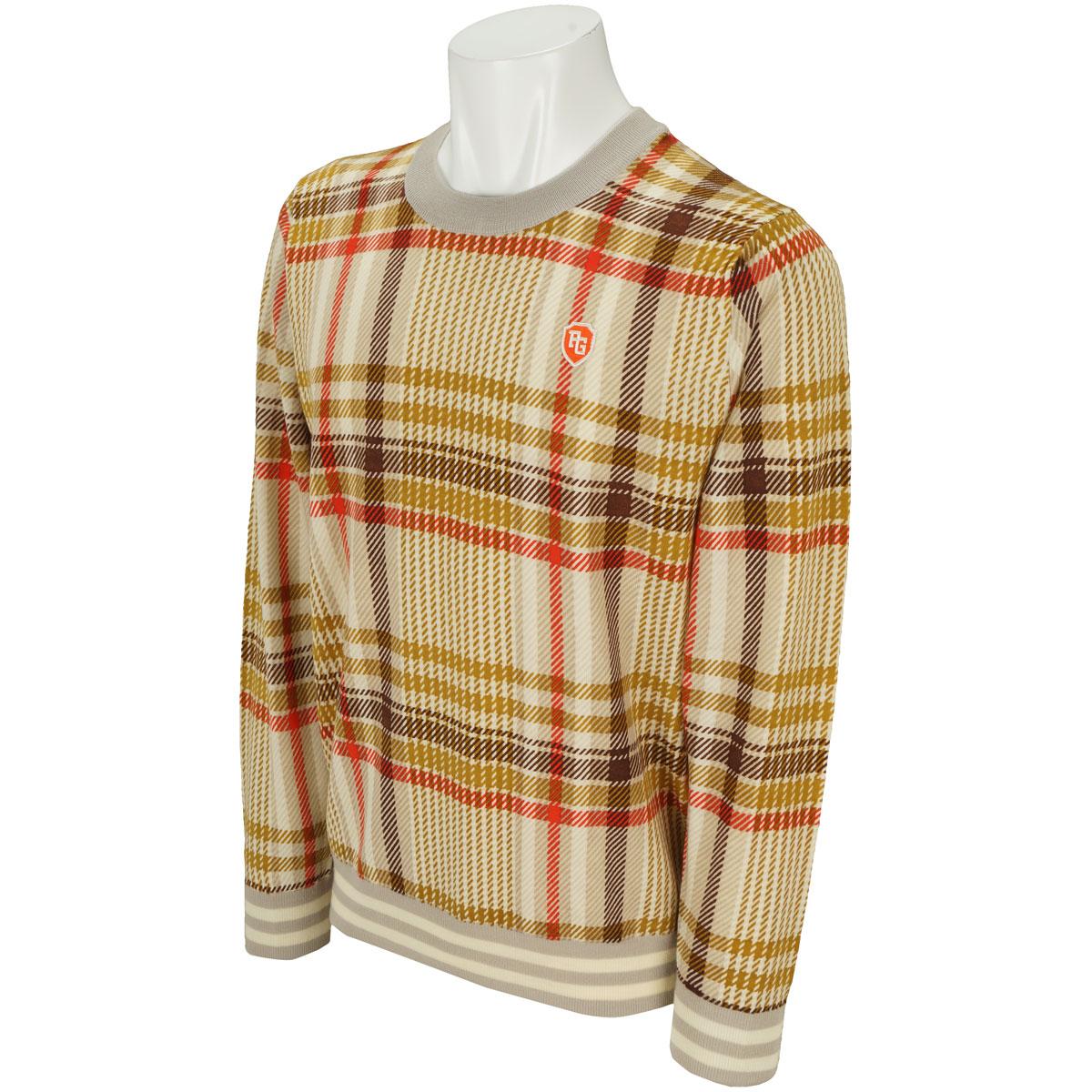 チェックプリントセーター