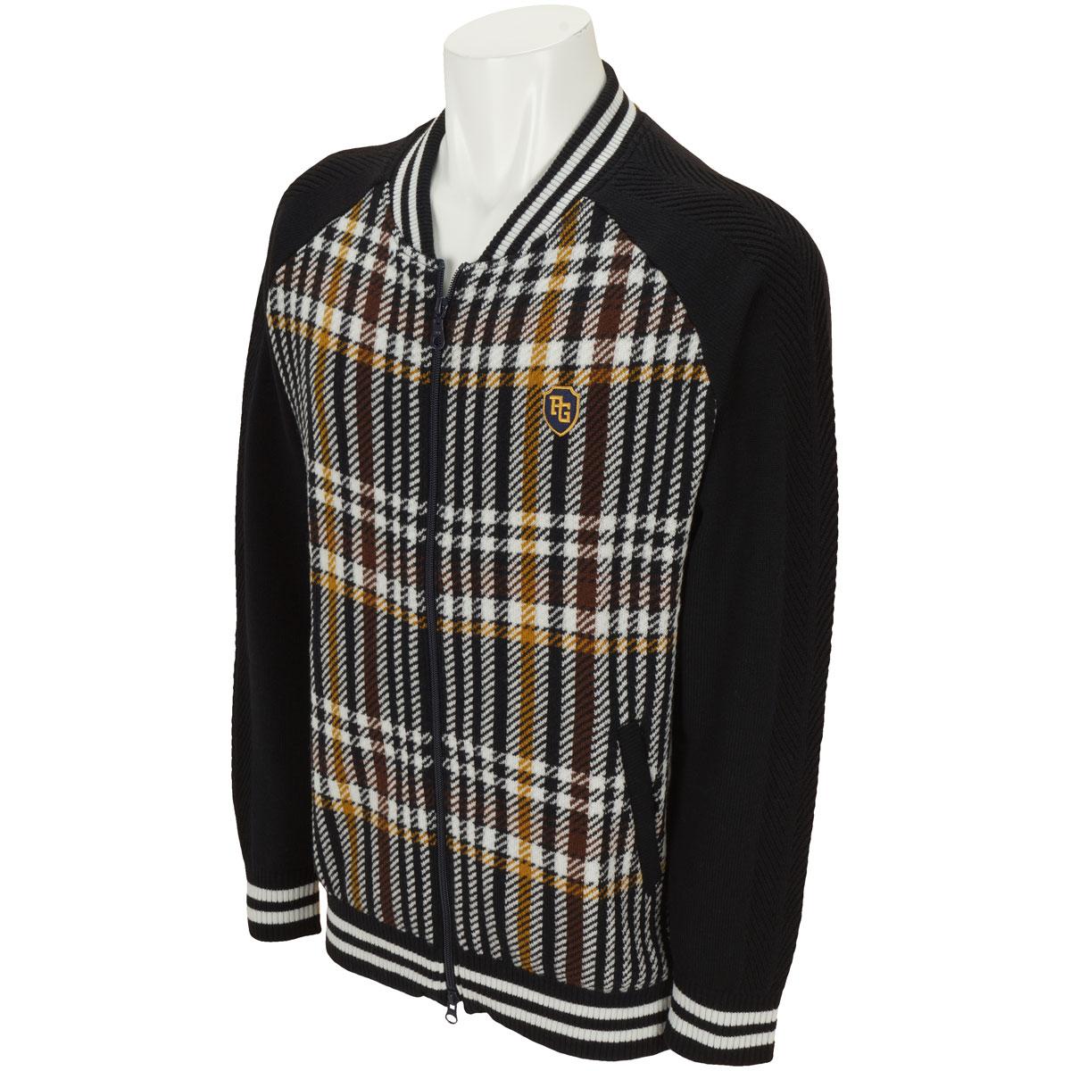 チェックセーター