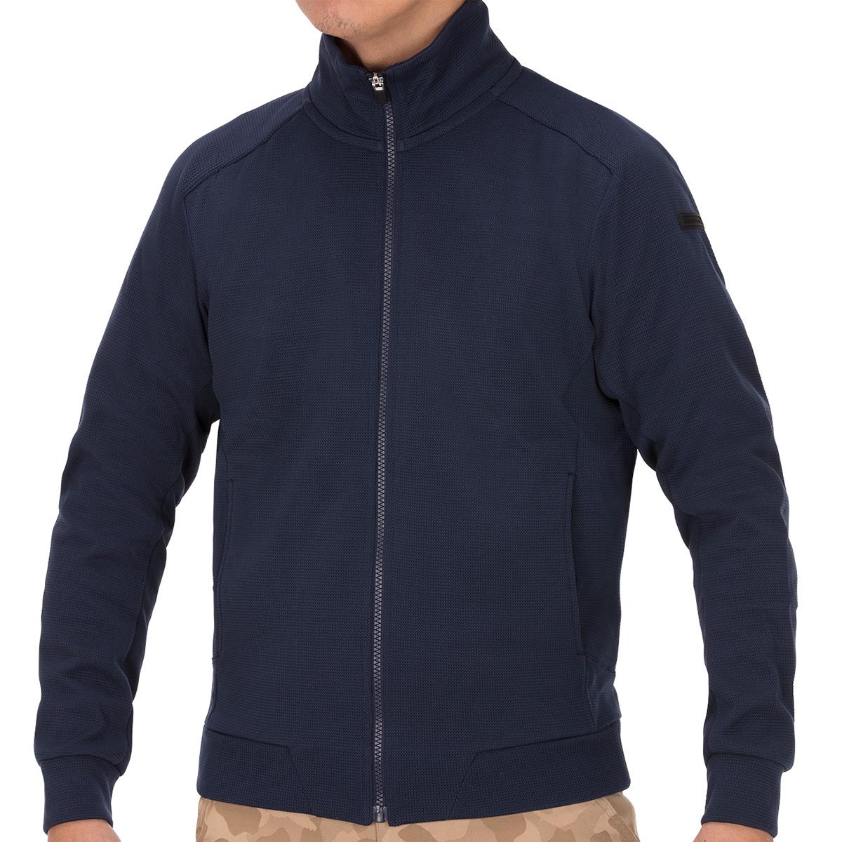 フルジップ防風ニットジャケット
