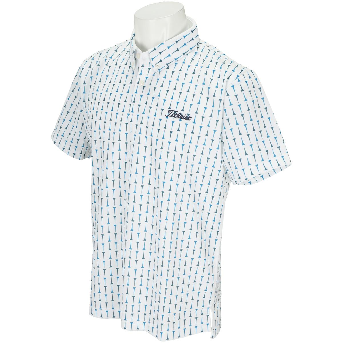 TEEプリント柄半袖ポロシャツ