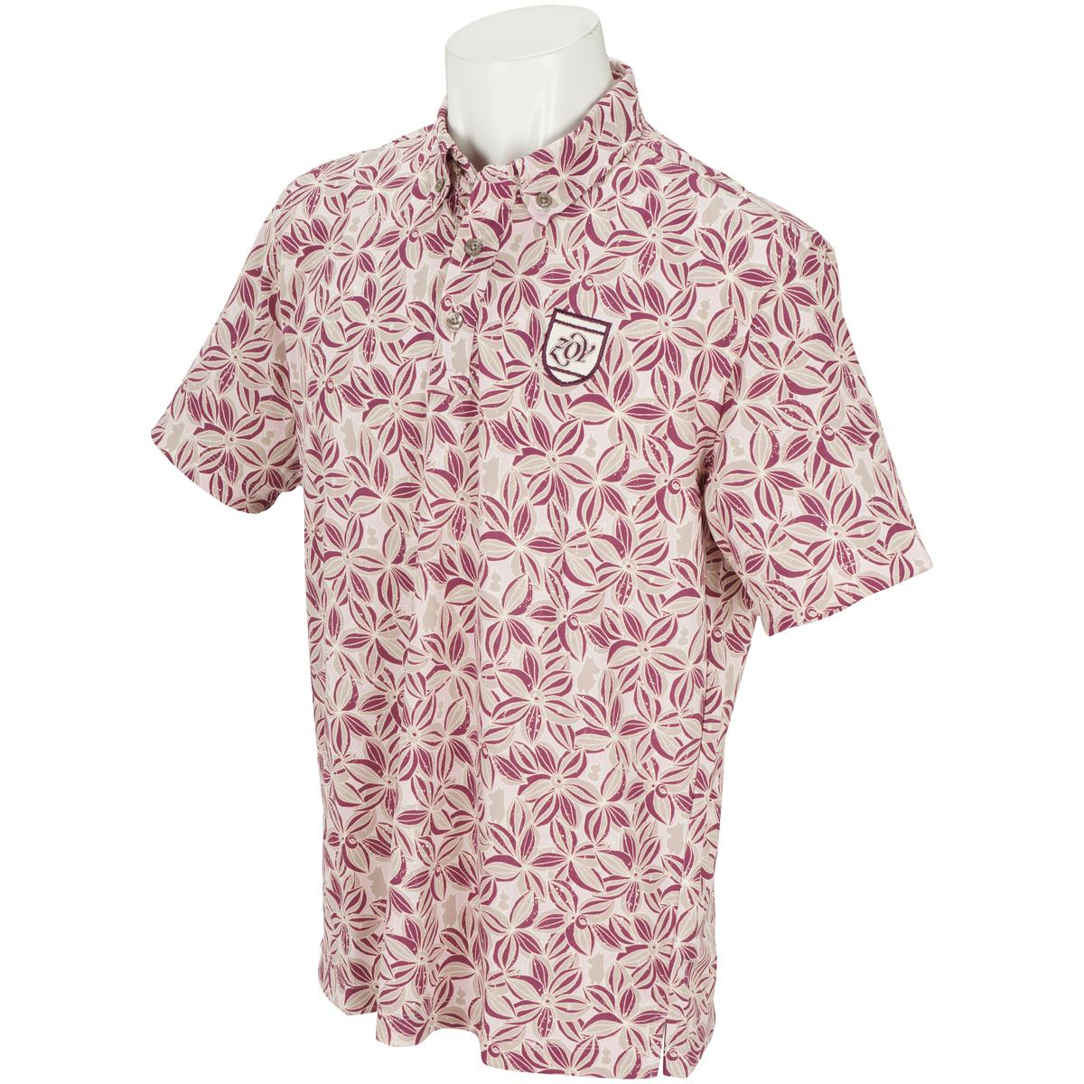 Moomin フラワープリント 半袖ポロシャツ