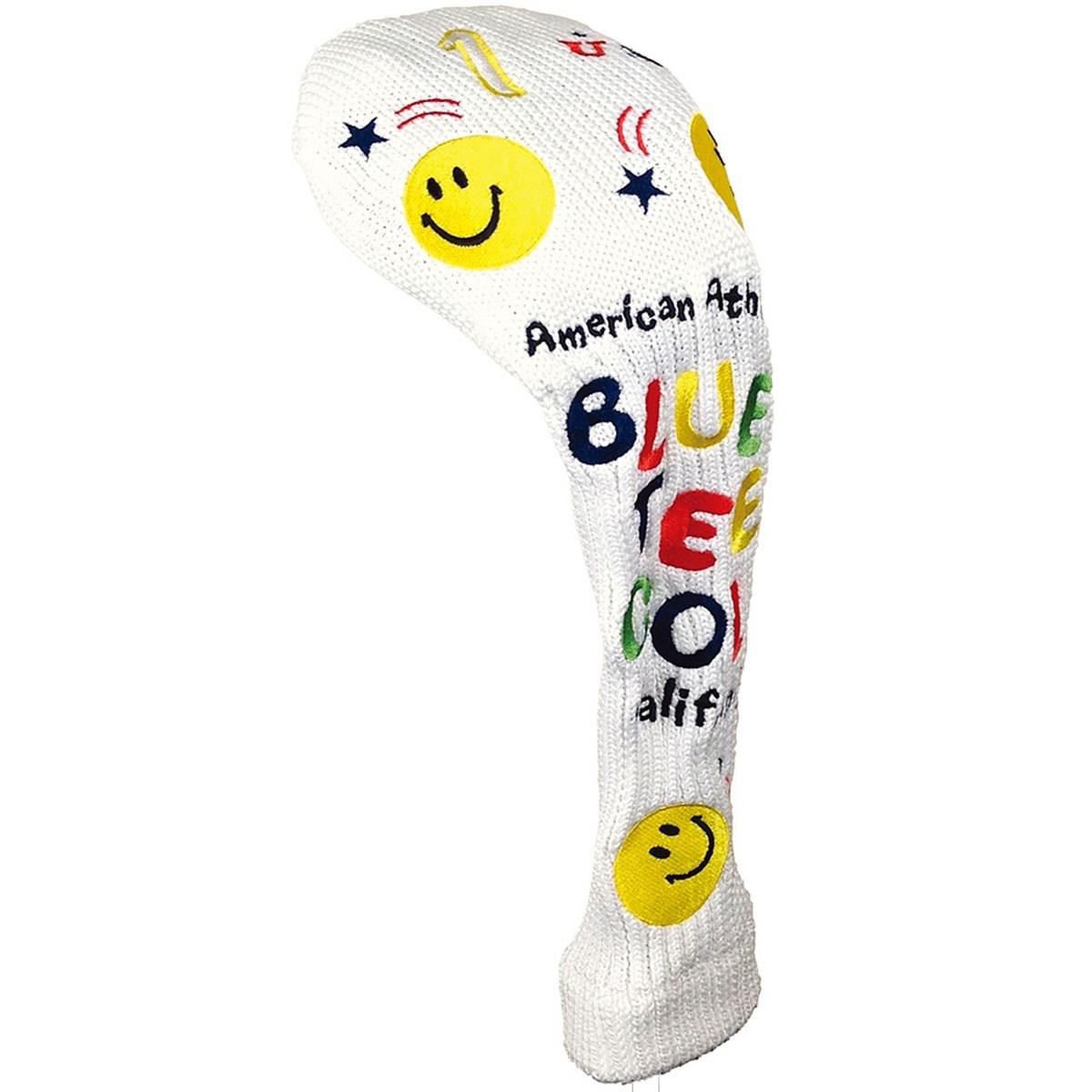 ブルーティーゴルフ BLUE TEE GOLF スマイル ニットヘッドカバー DR用 ホワイト
