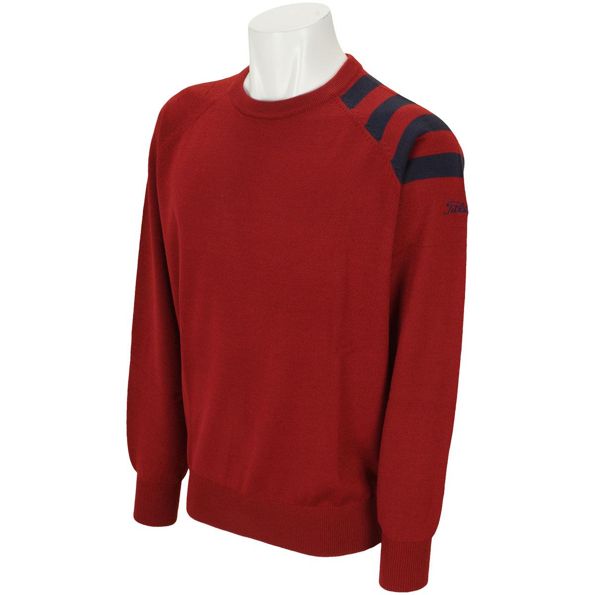 ストライプクルーネックセーター