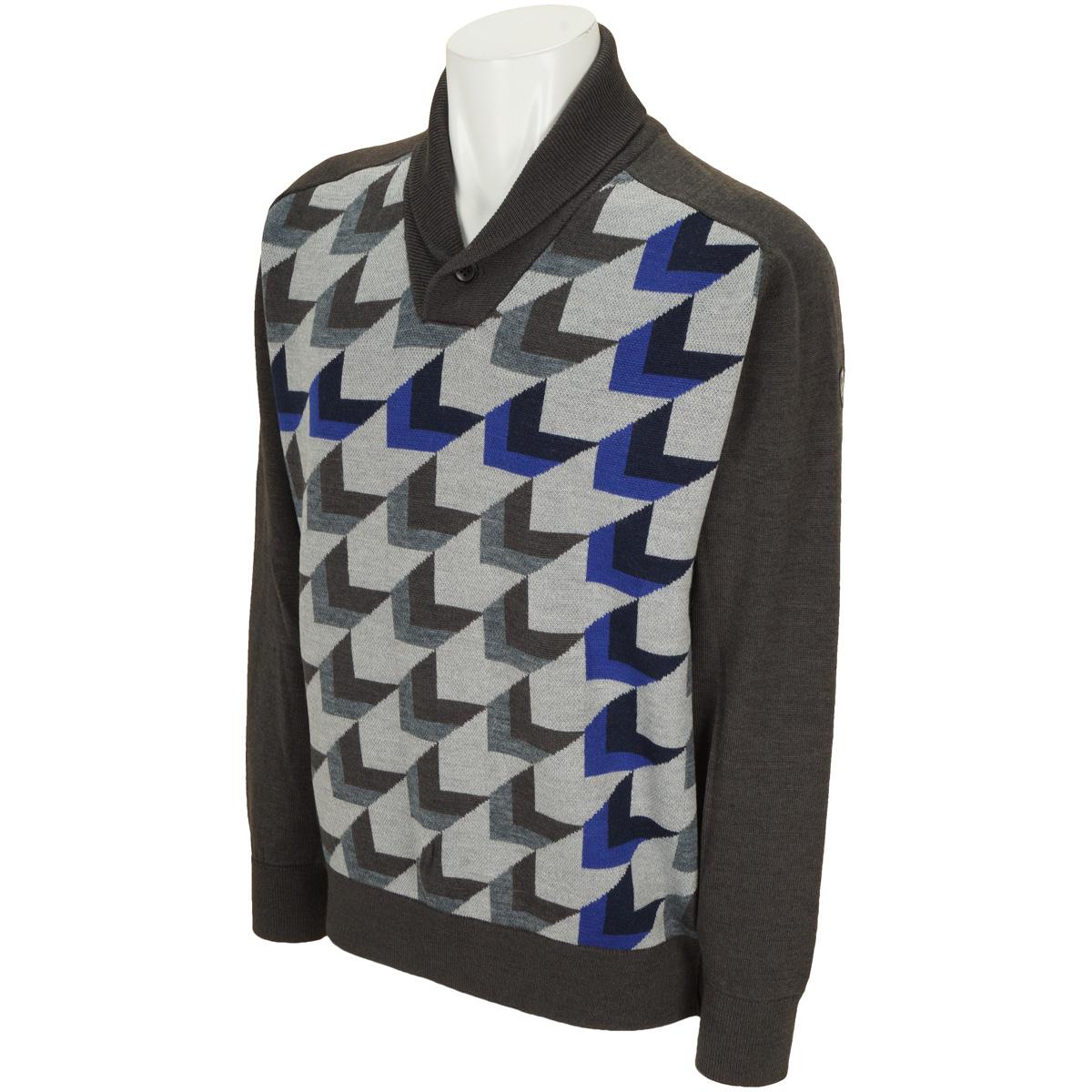 WhiteLabel 高収縮糸インターシャセーター