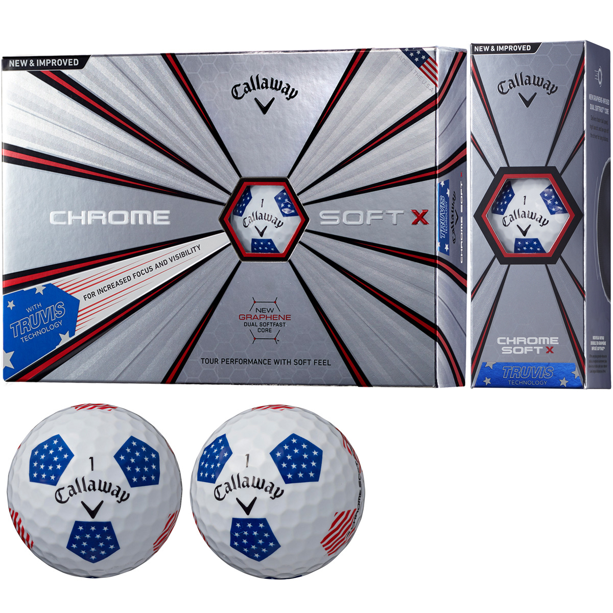 CHROME SOFT X 18 TRUVIS ボール