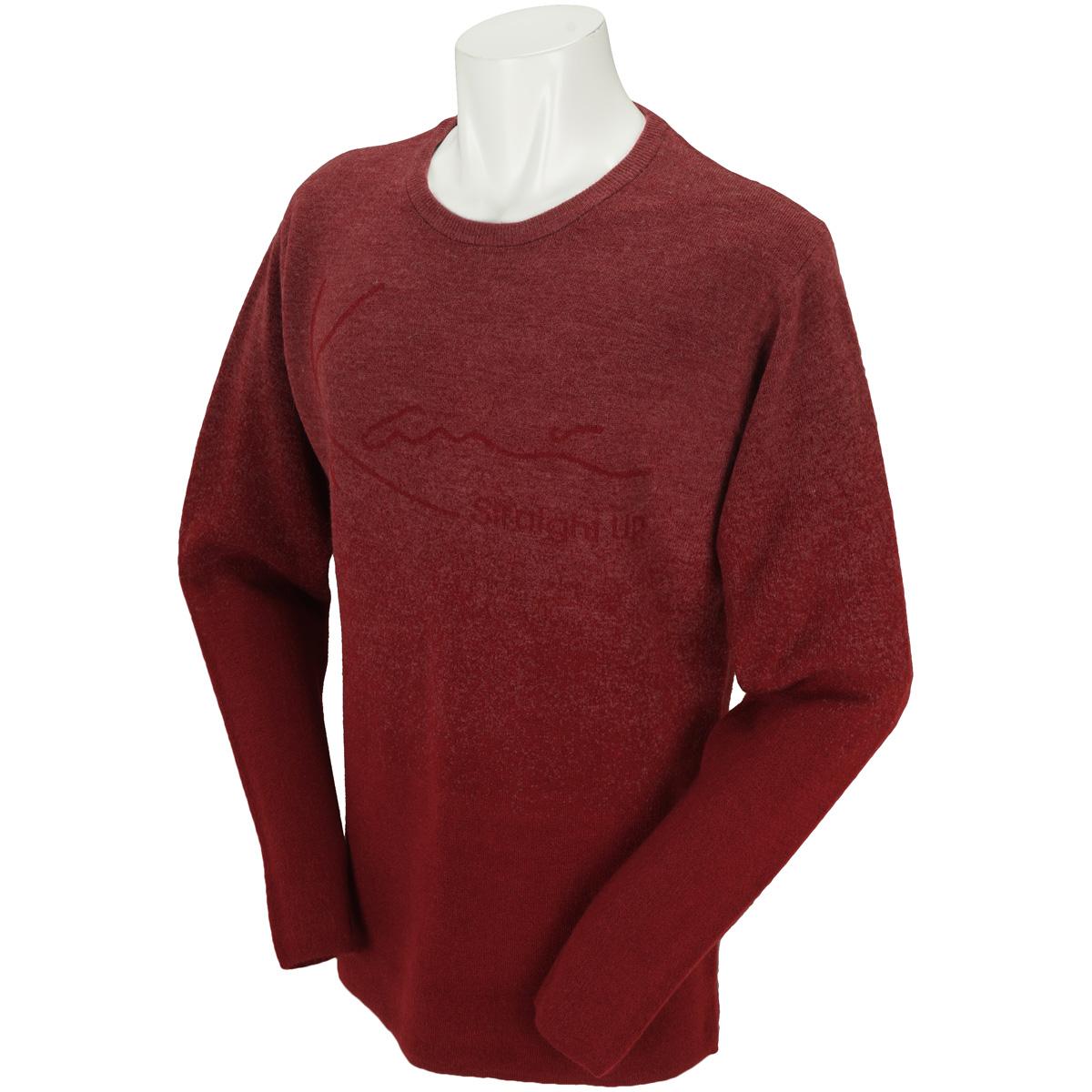カシミヤタッチグラデロゴセーター
