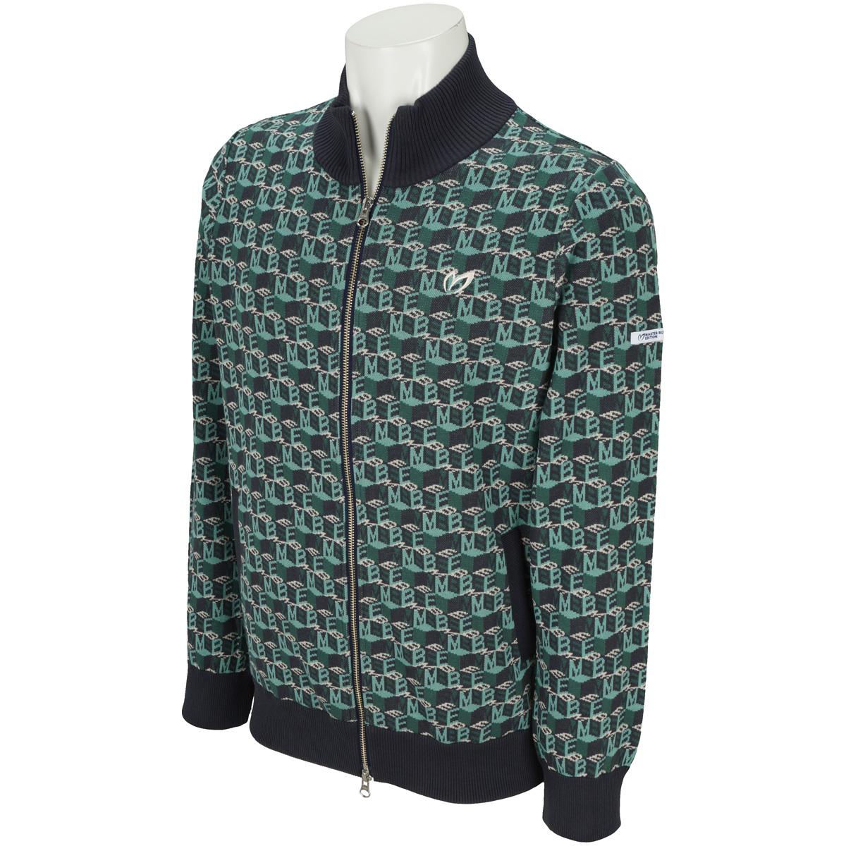 キューブMBEロゴ柄セーター