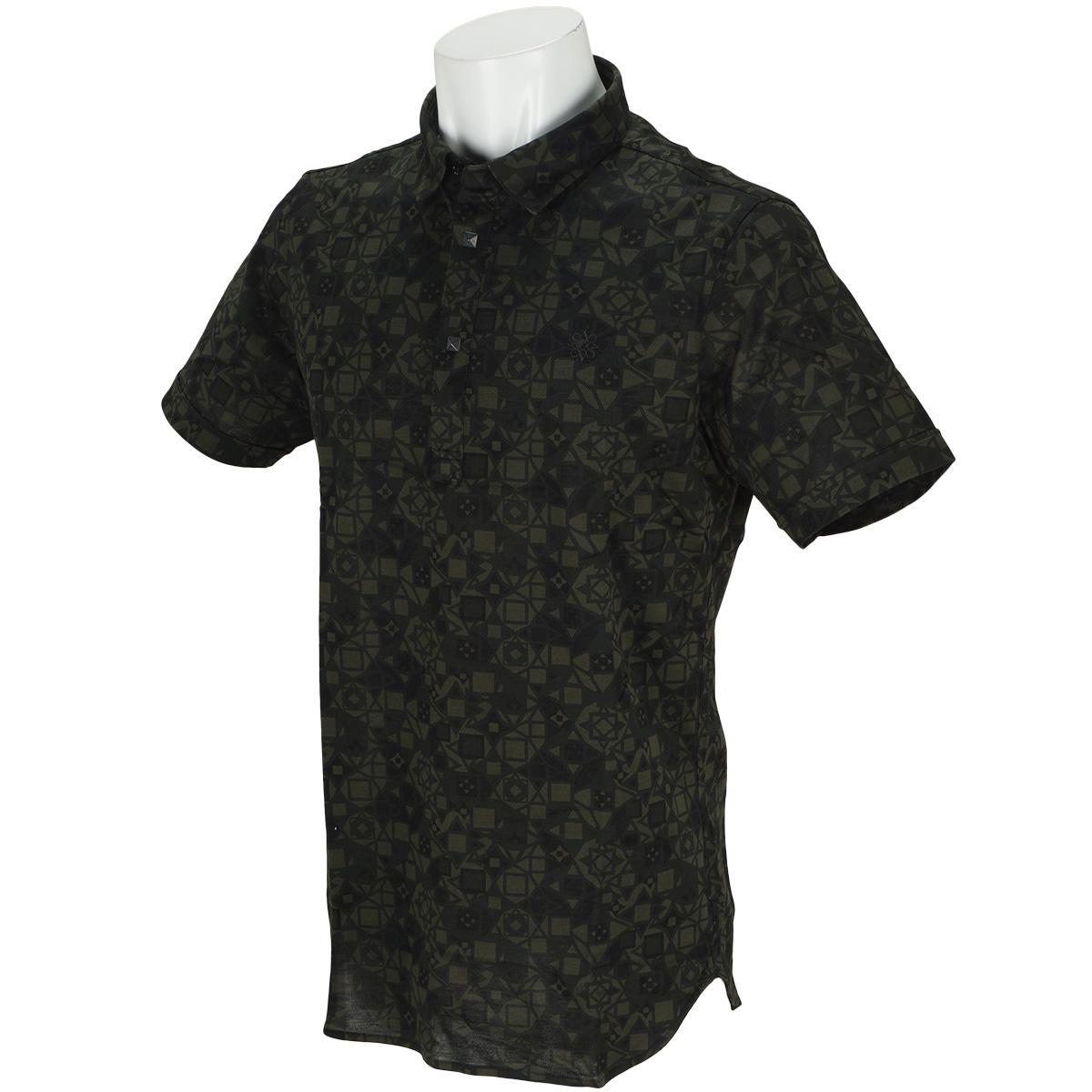 BK アンドリュースカモ柄鹿の子半袖ポロシャツ