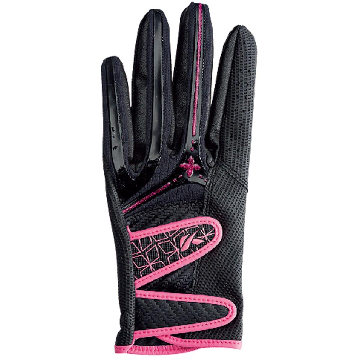 キャスコ KASCO パームフィット グローブ S 左手着用(右利き用) ブラック/ピンク レディス