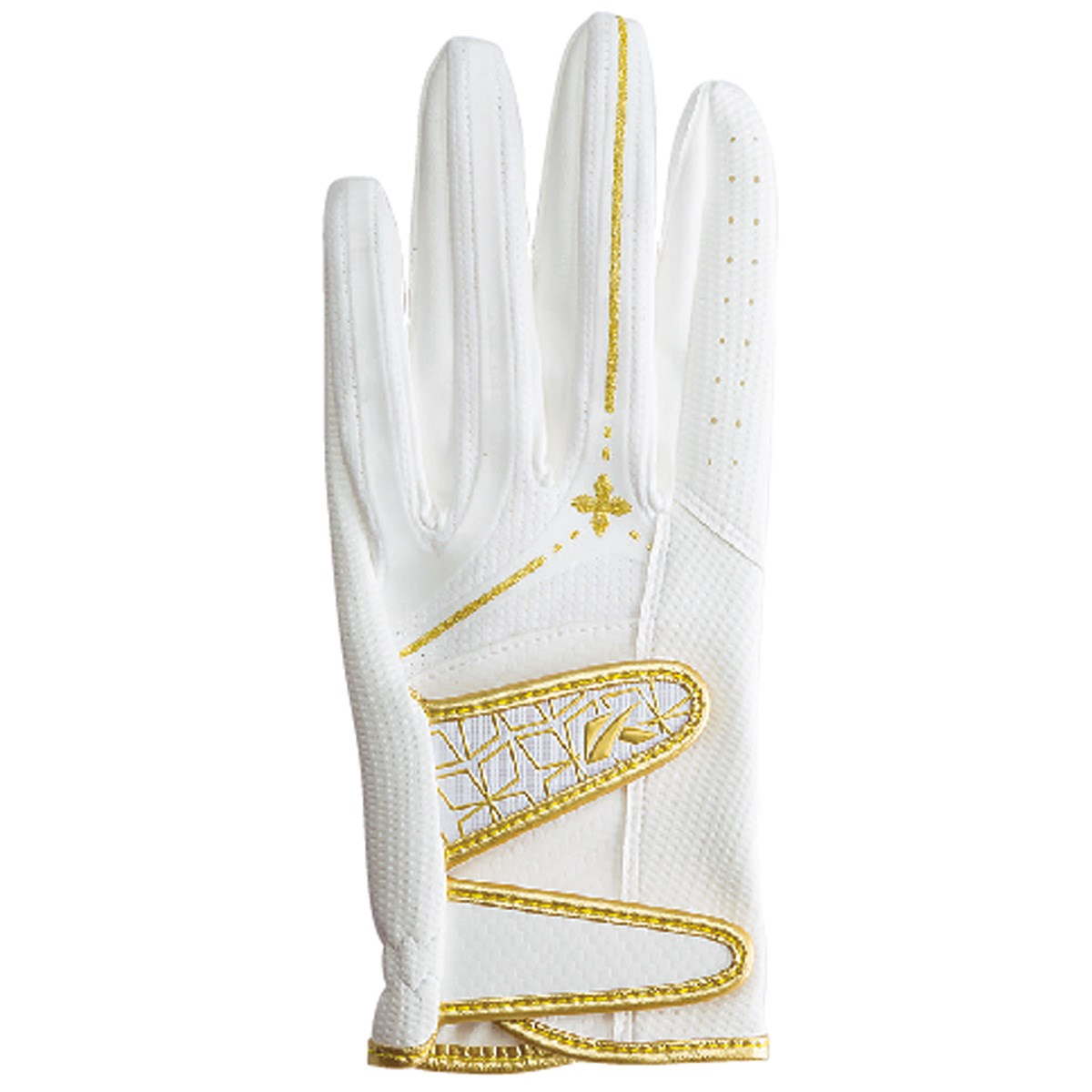 キャスコ KASCO パームフィット グローブ S 左手着用(右利き用) ホワイト/ゴールド レディス