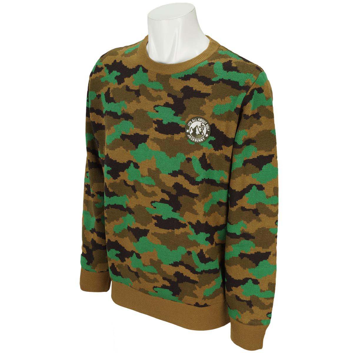 HOT WAVE カモ柄セーター