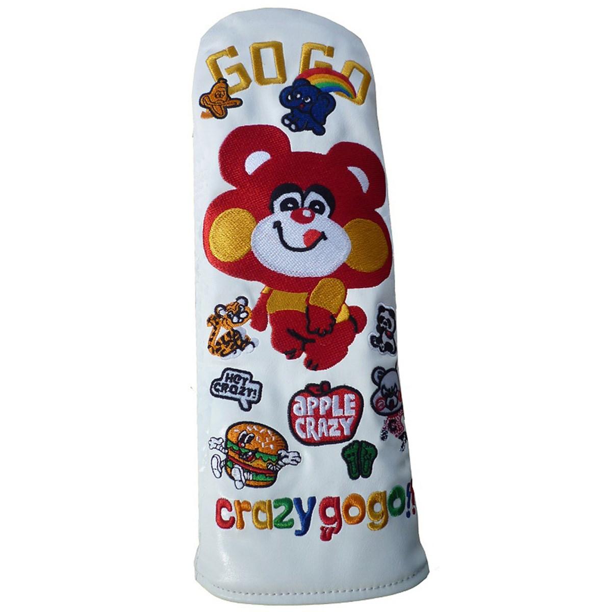 CRAZY GO GO!! ヘッドカバー FW用 有り/ダイヤル式(3、4、5、7、X) ホワイト