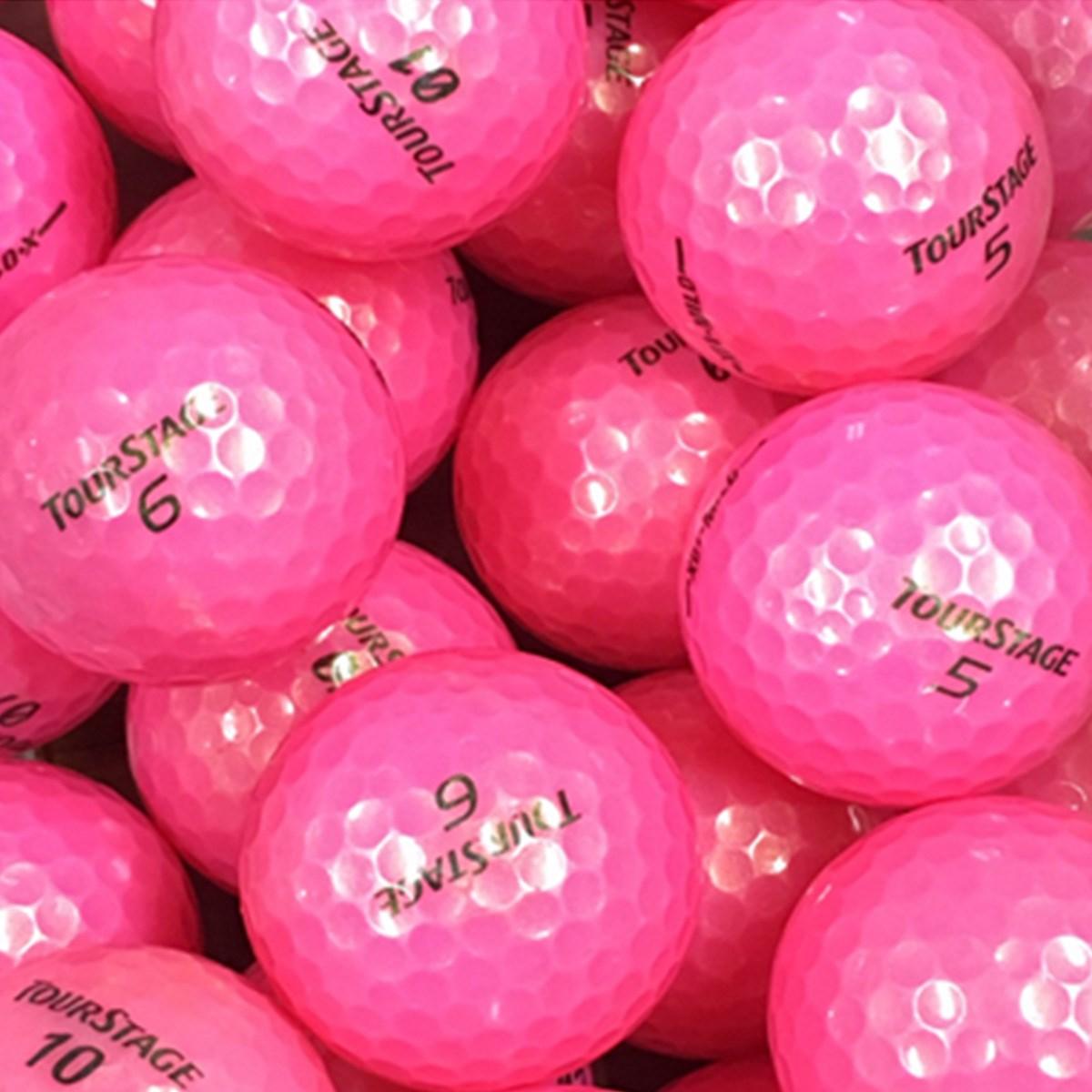 ロストボール ツアーステージ混合 Sランク ピンク系 20個セット