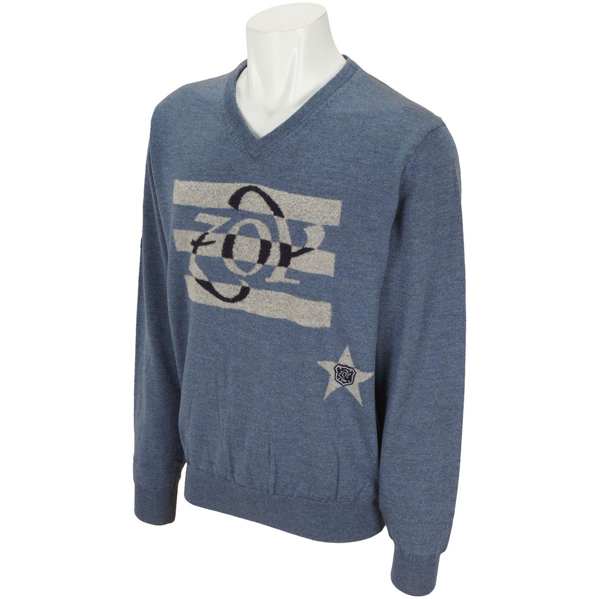 キャッシュウール 裏地付き長袖セーター