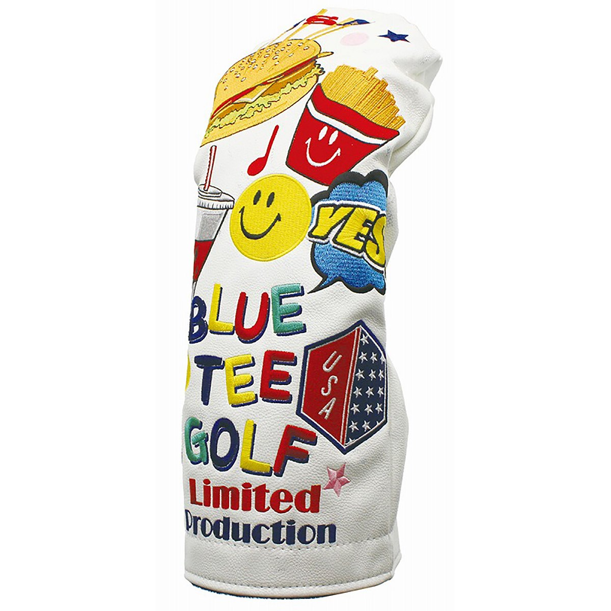 ブルーティーゴルフ BLUE TEE GOLF 限定モデル スマイルバーガー ヘッドカバー DR用 ホワイト