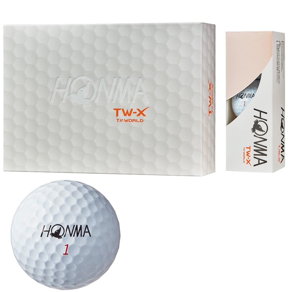 本間ゴルフ HONMA TW-X ボール 1ダース(12個入り) ホワイト