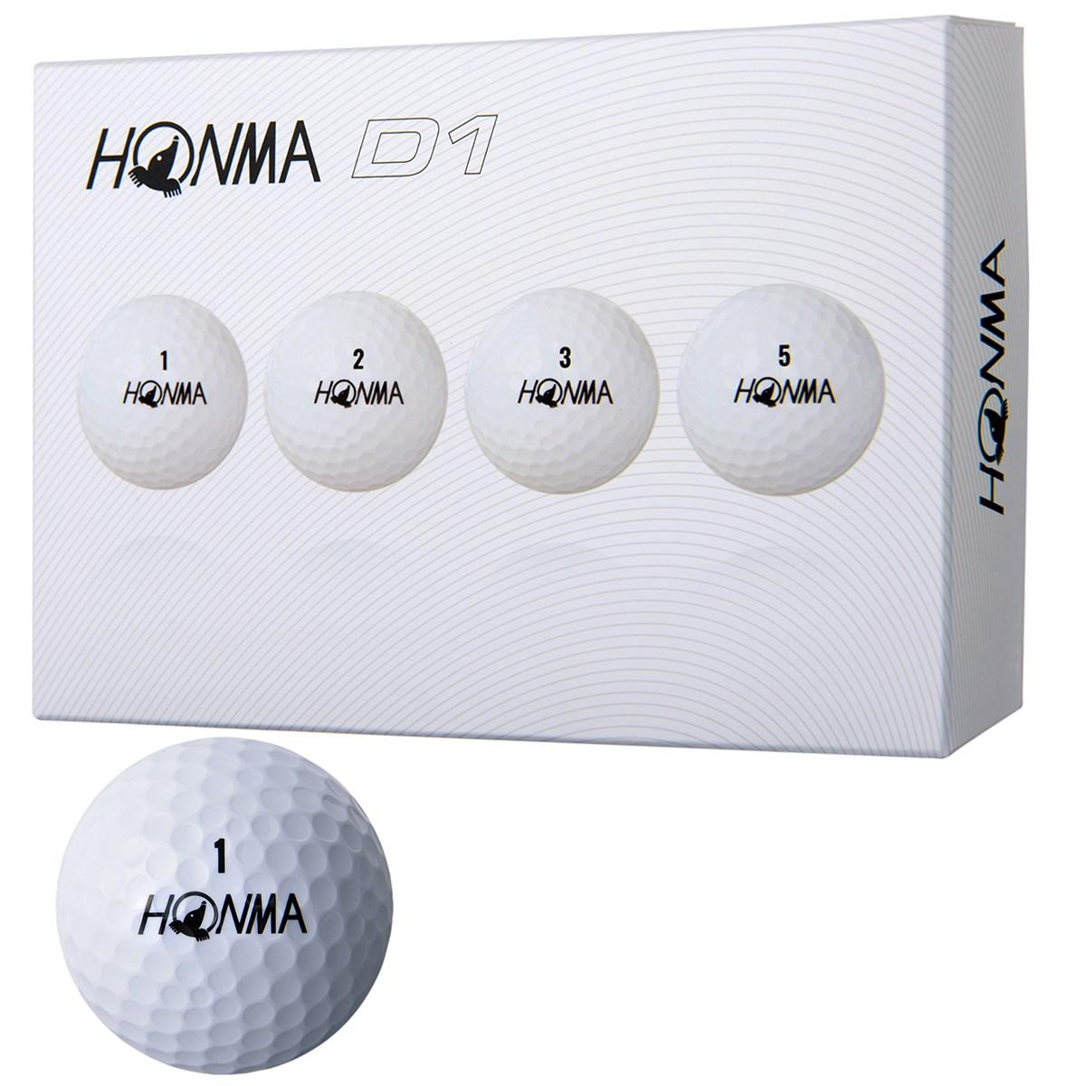 本間ゴルフ HONMA D1 ボール 2018年モデル 1ダース(12個入り) ホワイト