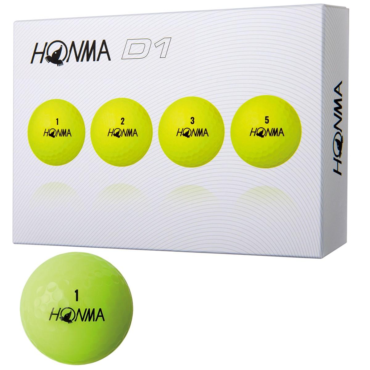 本間ゴルフ HONMA D1 ボール 2018年モデル 1ダース(12個入り) イエロー