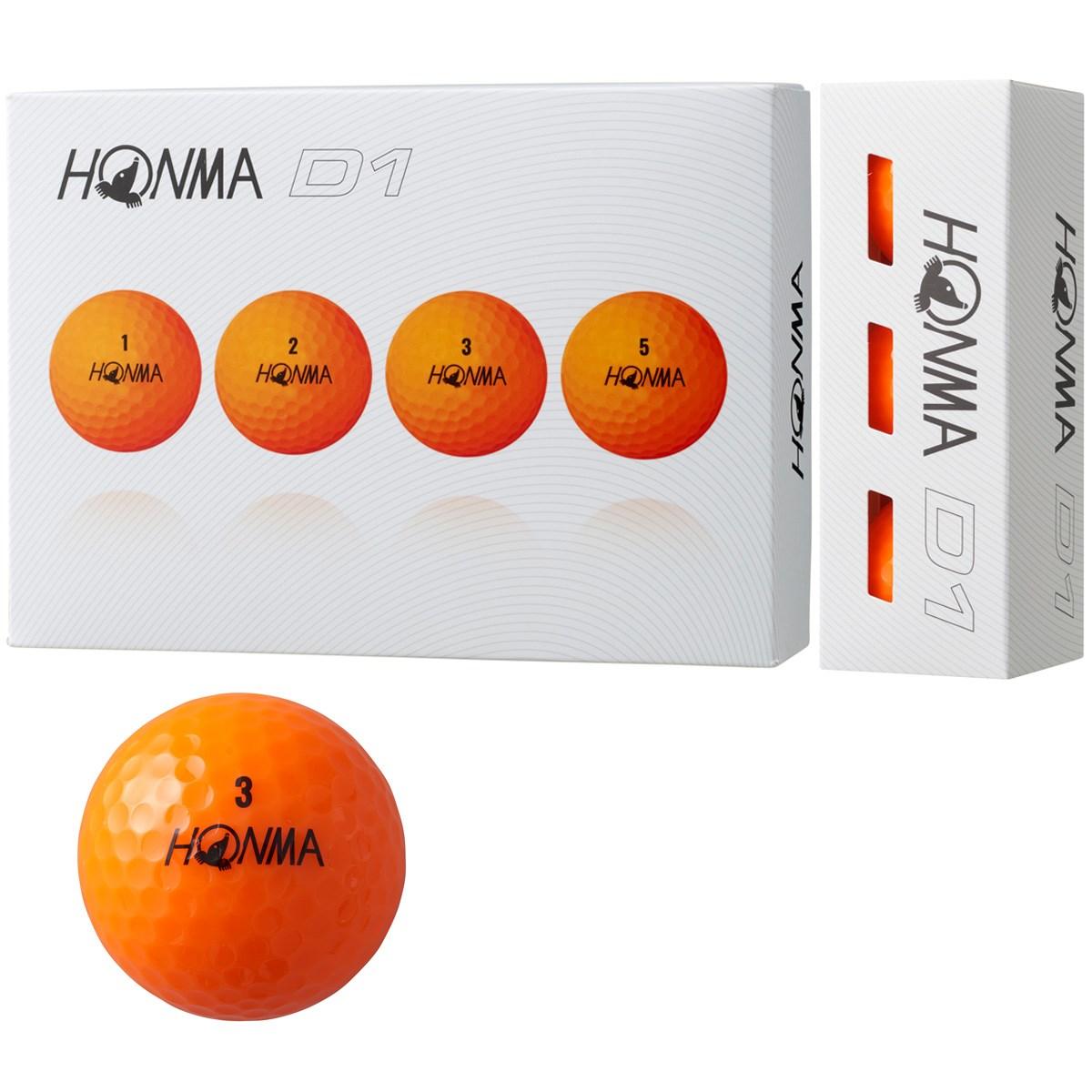 本間ゴルフ HONMA D1 ボール 2018年モデル 1ダース(12個入り) オレンジ