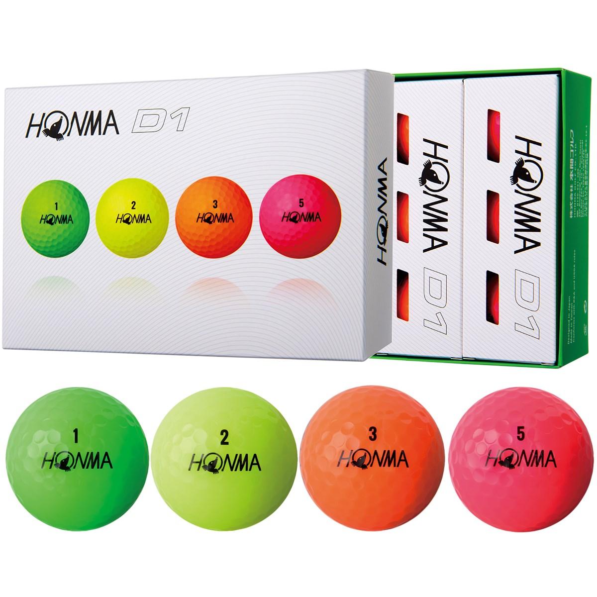 本間ゴルフ HONMA D1 ボール 2018年モデル 1ダース(12個入り) マルチ