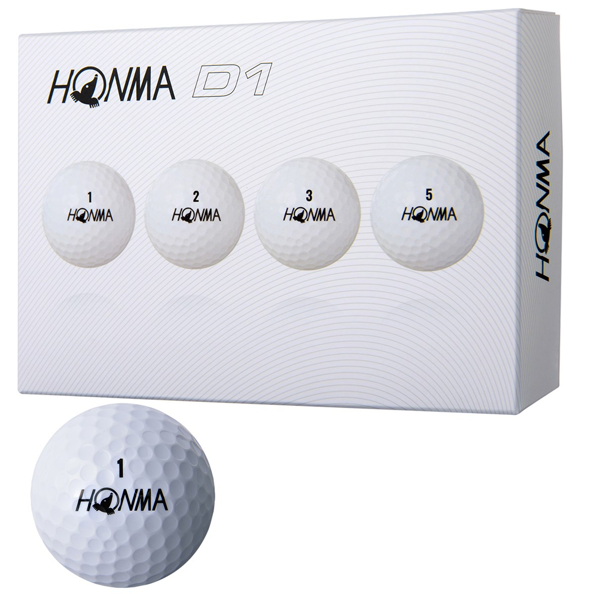 本間ゴルフ HONMA D1 ボール 2018年モデル 3ダースセット 3ダース(36個入り) ホワイト