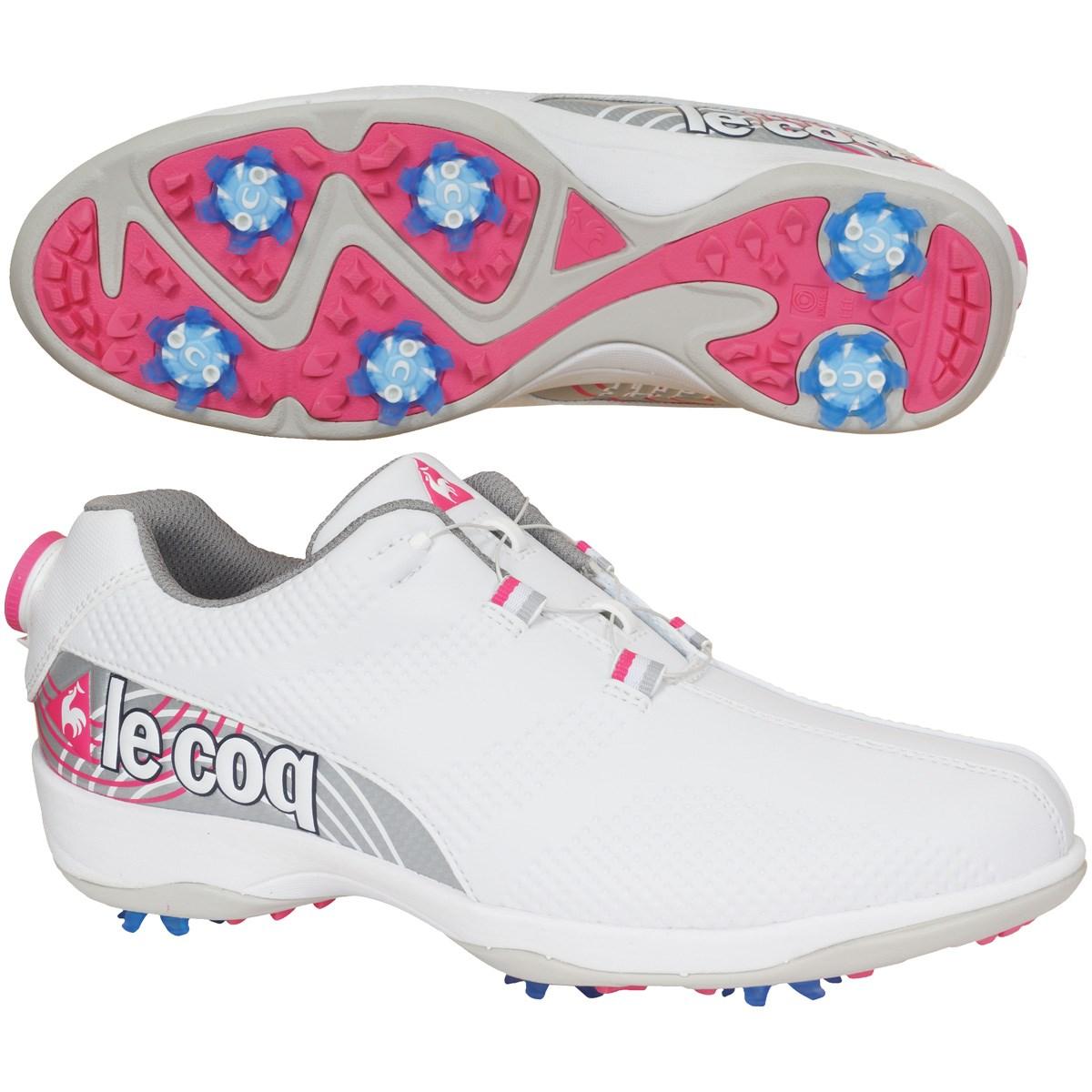 ルコックゴルフ Le coq sportif GOLF ゴルフシューズ 23cm ホワイト/ピンク WHPK レディス