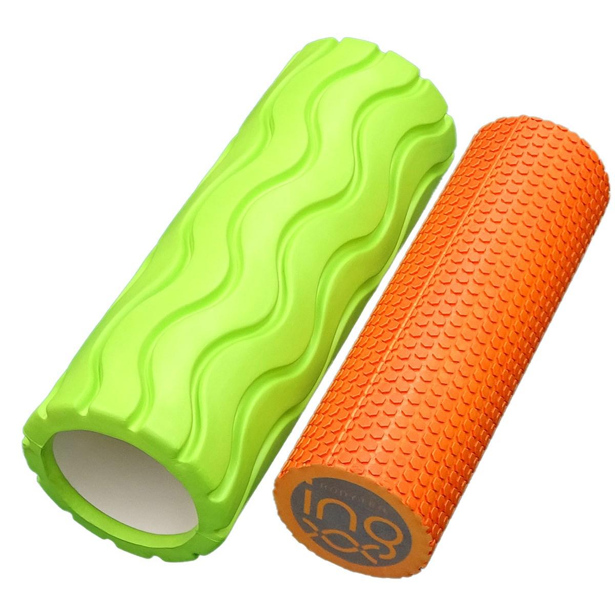 朝日ゴルフ ASAHI GOLF Bodyトレ 筋膜リリース ツインフォームローラー らくらくツインローラー 大:グリーン/小:オレンジ
