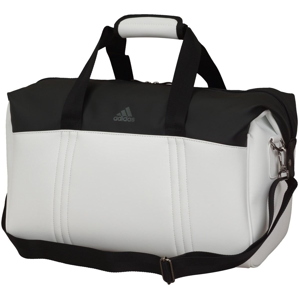 アディダス Adidas マットポリウレタン ボストンバッグ ホワイト
