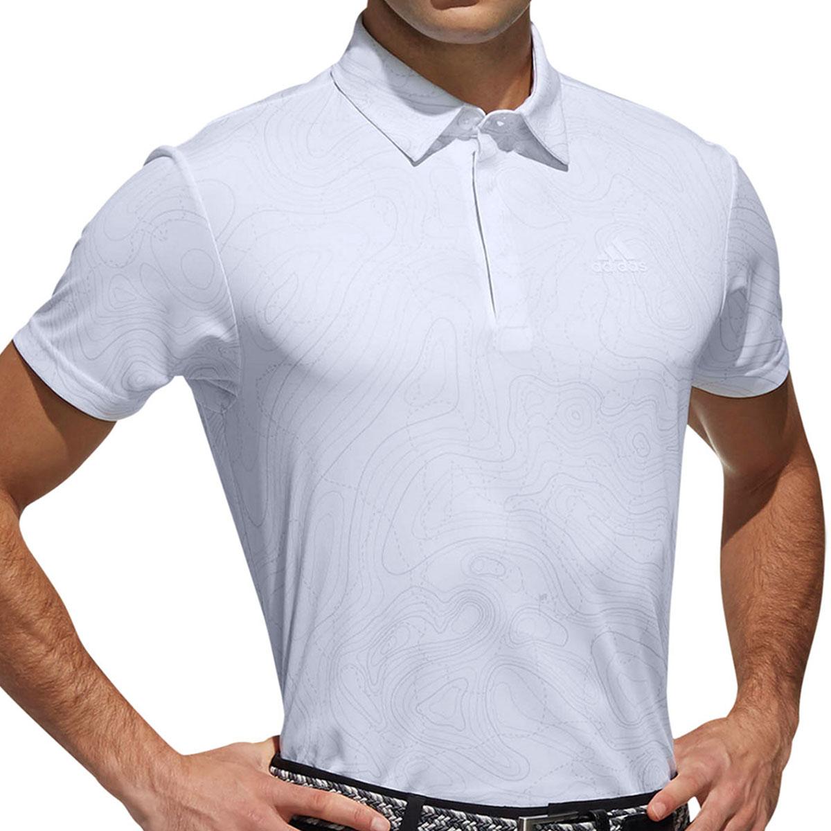 Performance マッププリント半袖ボタンダウンポロシャツ