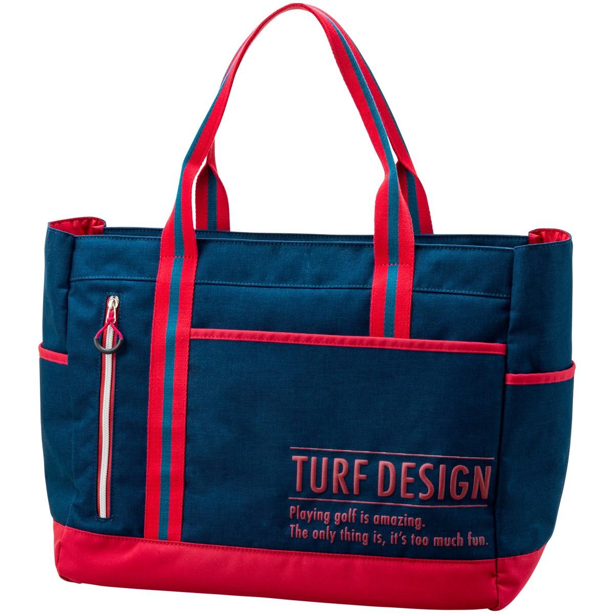 ターフデザイン TURF DESIGN トートバッグ ネイビー/レッド
