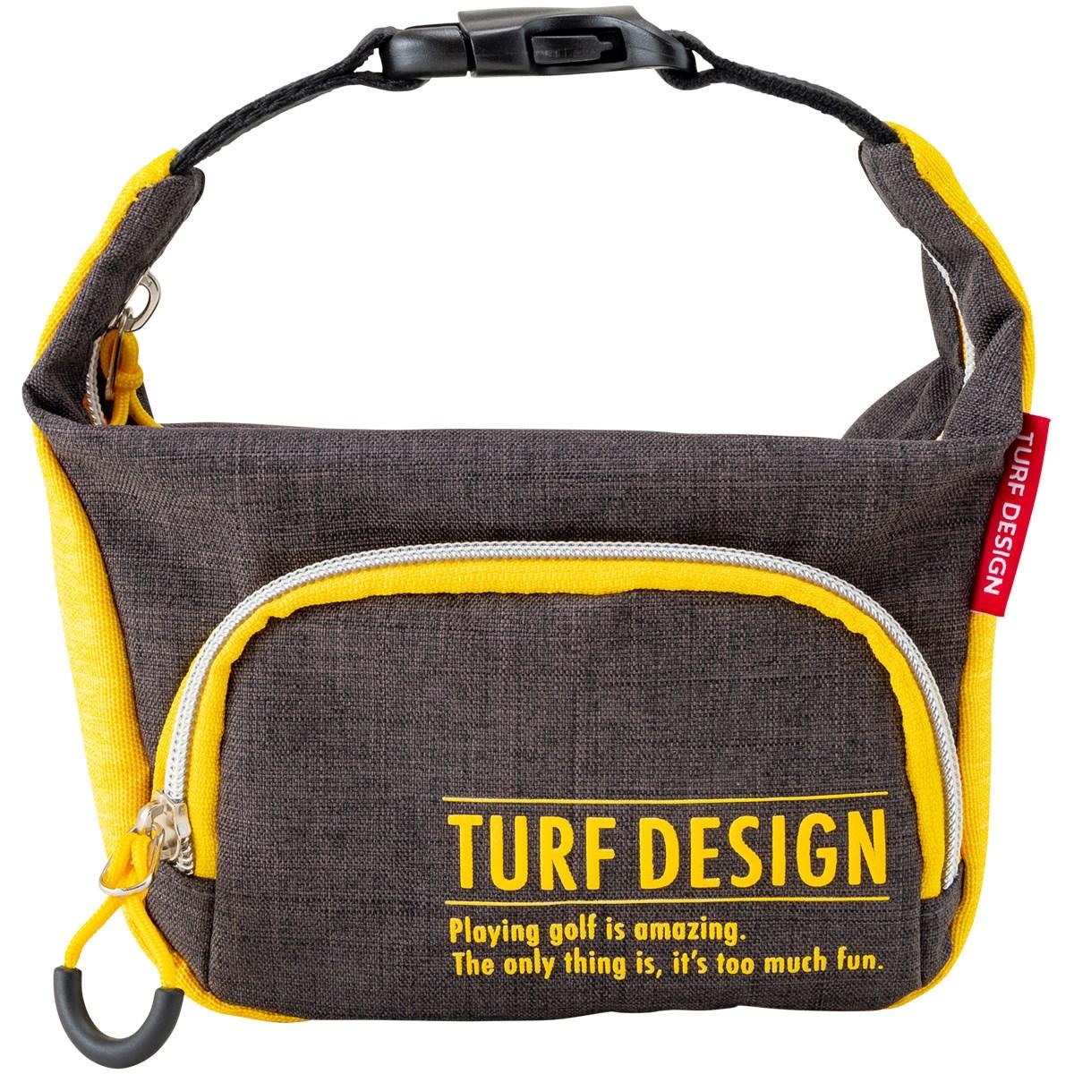 ターフデザイン TURF DESIGN ミニ ポーチ ブラック/イエロー