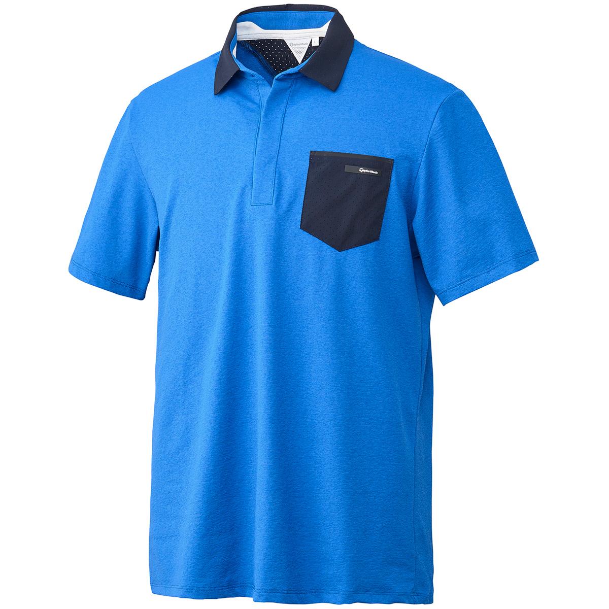 ストレッチ パンチングポケット 半袖ポロシャツ