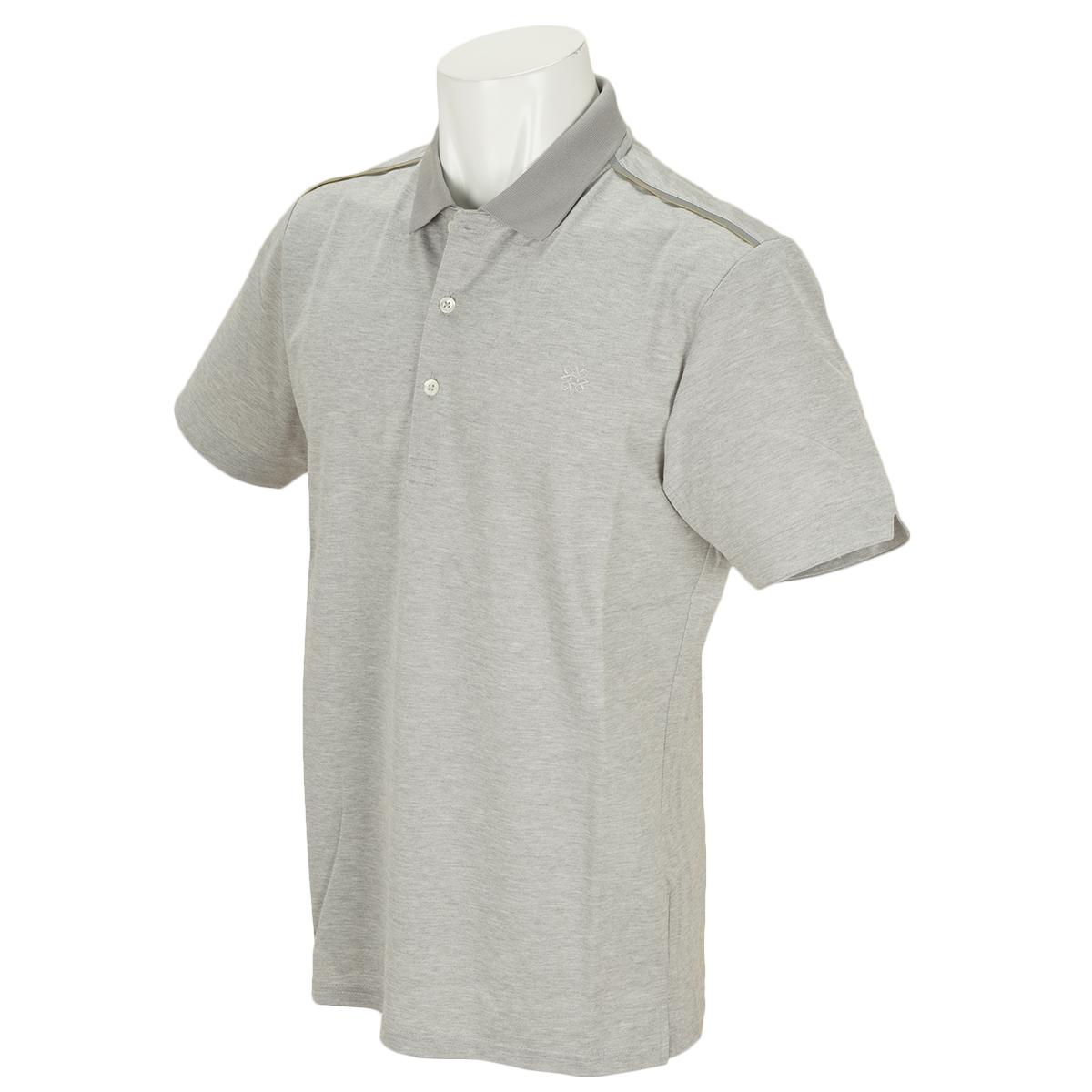 WhiteLabel COOLMAXハイゲージハニカム半袖ポロシャツ