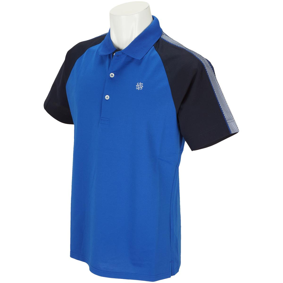 WhiteLabel COOLMAXハイゲージハニカムラグラン半袖ポロシャツ