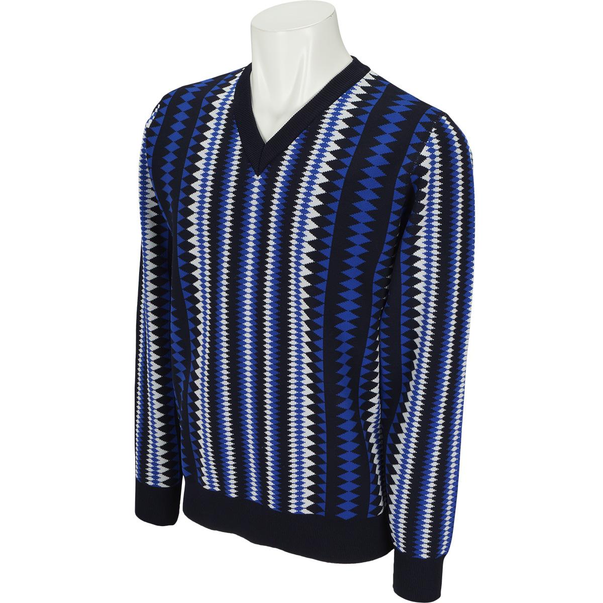 WhiteLabel ダイヤ Vネックセーター