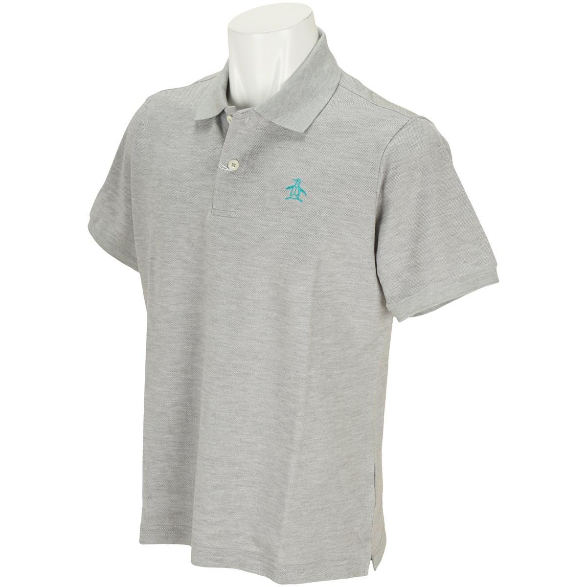 マンシングウェア Munsingwear ONE THING 半袖ポロシャツ L グレー杢 N600