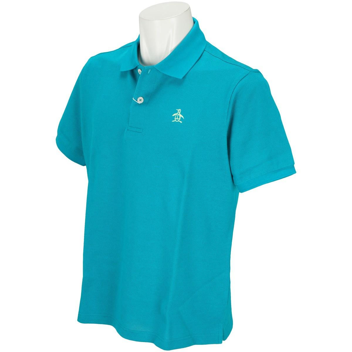 マンシングウェア Munsingwear ONE THING 半袖ポロシャツ L ターコイズ E458