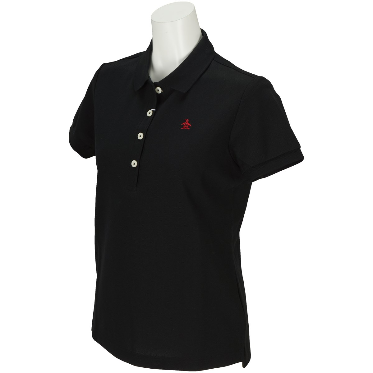 マンシングウェア Munsingwear 半袖ポロシャツ M ブラック N100 レディス