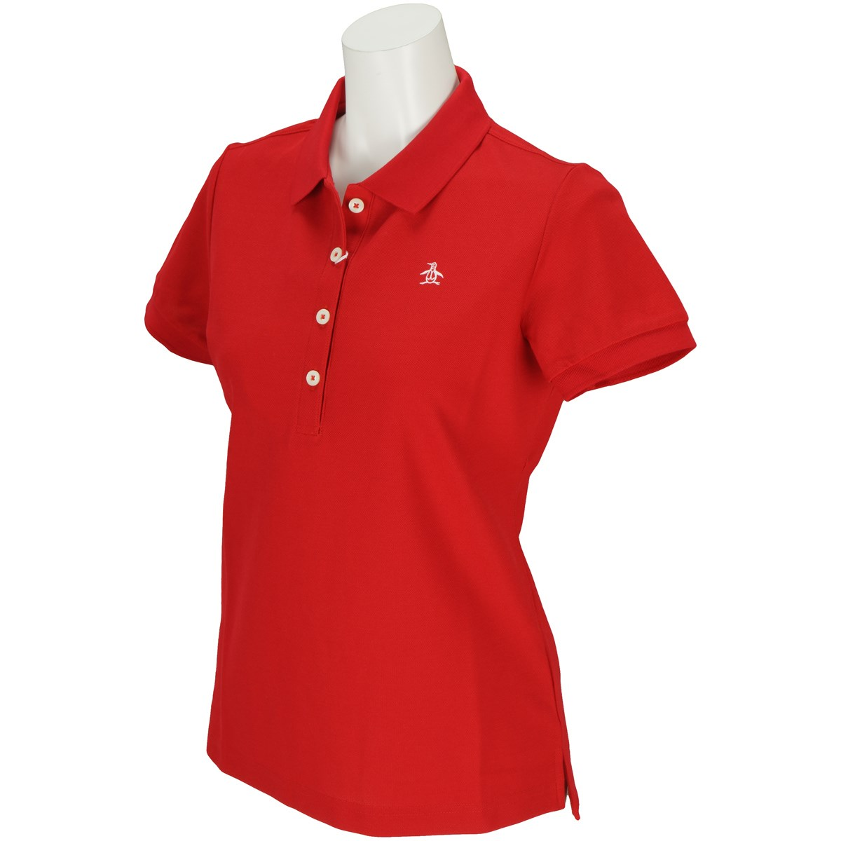 マンシングウェア Munsingwear 半袖ポロシャツ LL レッド R329 レディス