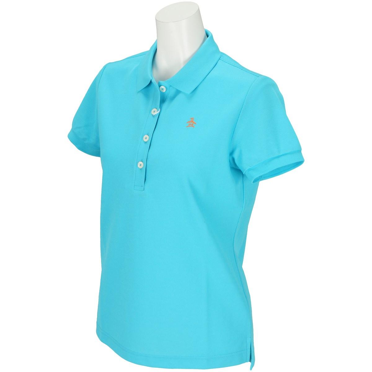 マンシングウェア Munsingwear 半袖ポロシャツ M ターコイズ B637 レディス