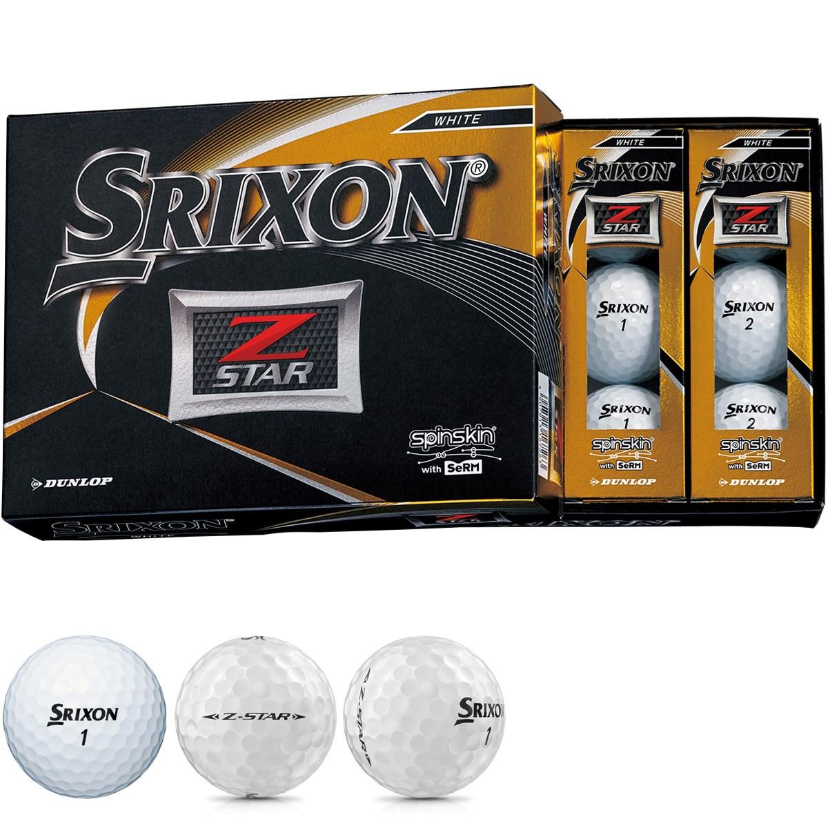 ダンロップ SRIXON Z-STAR ボール 1ダース(12個入り) ホワイト