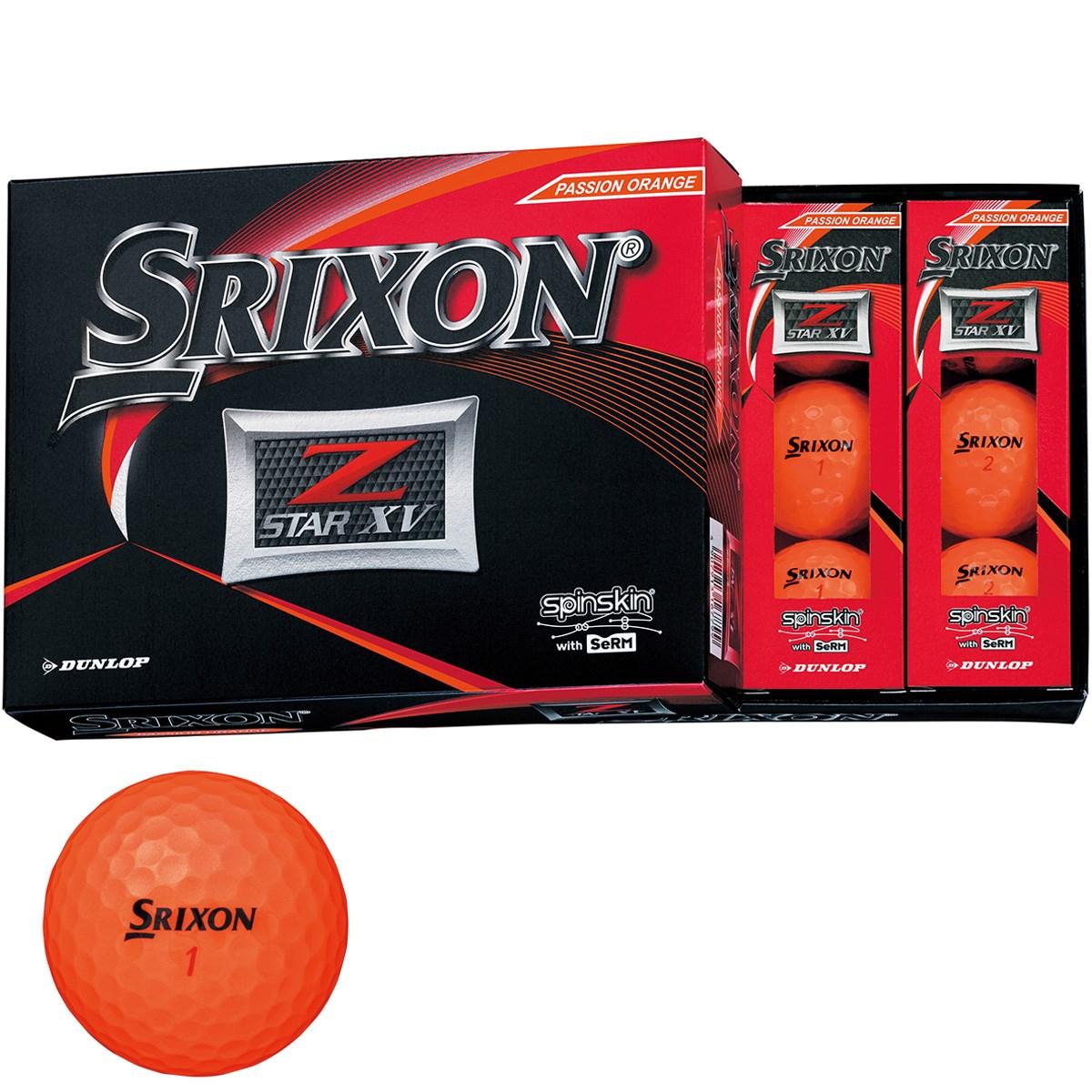 ダンロップ SRIXON Z-STAR XV ボール 1ダース(12個入り) プレミアムパッションオレンジ