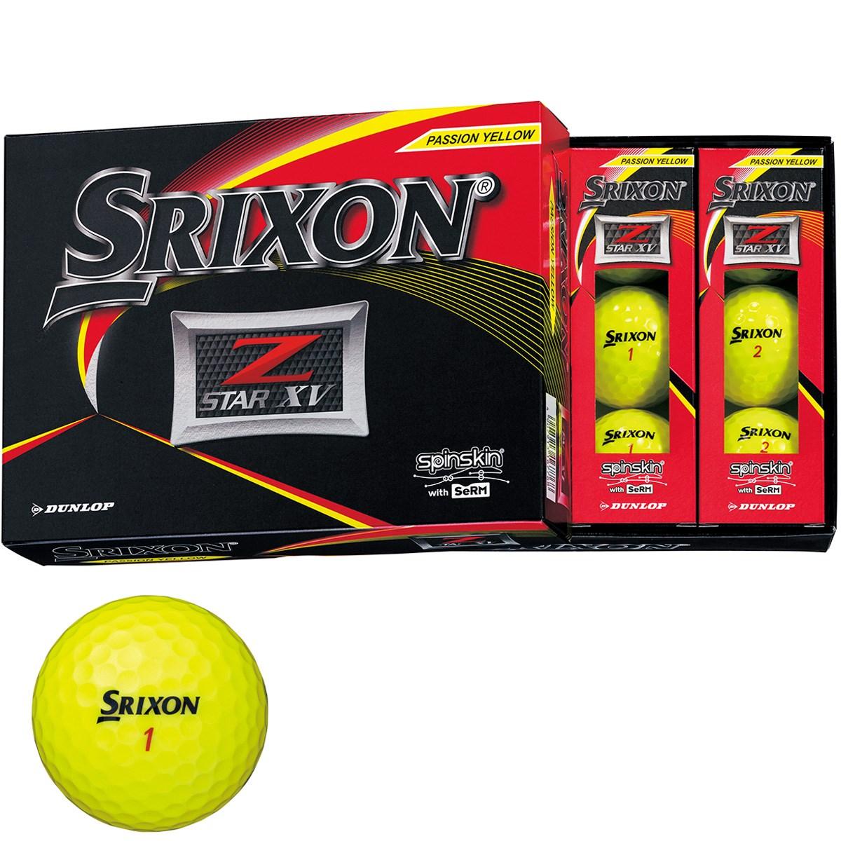 ダンロップ SRIXON Z-STAR XV ボール 1ダース(12個入り) プレミアムパッションイエロー