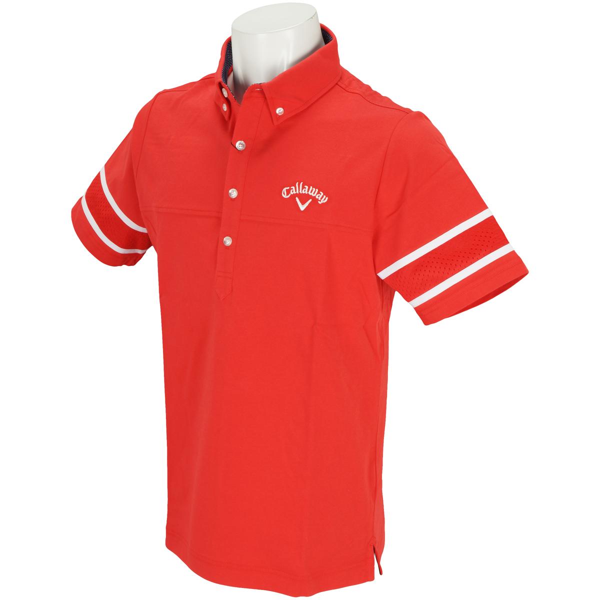 ショートボタンダウンカラー半袖ポロシャツ