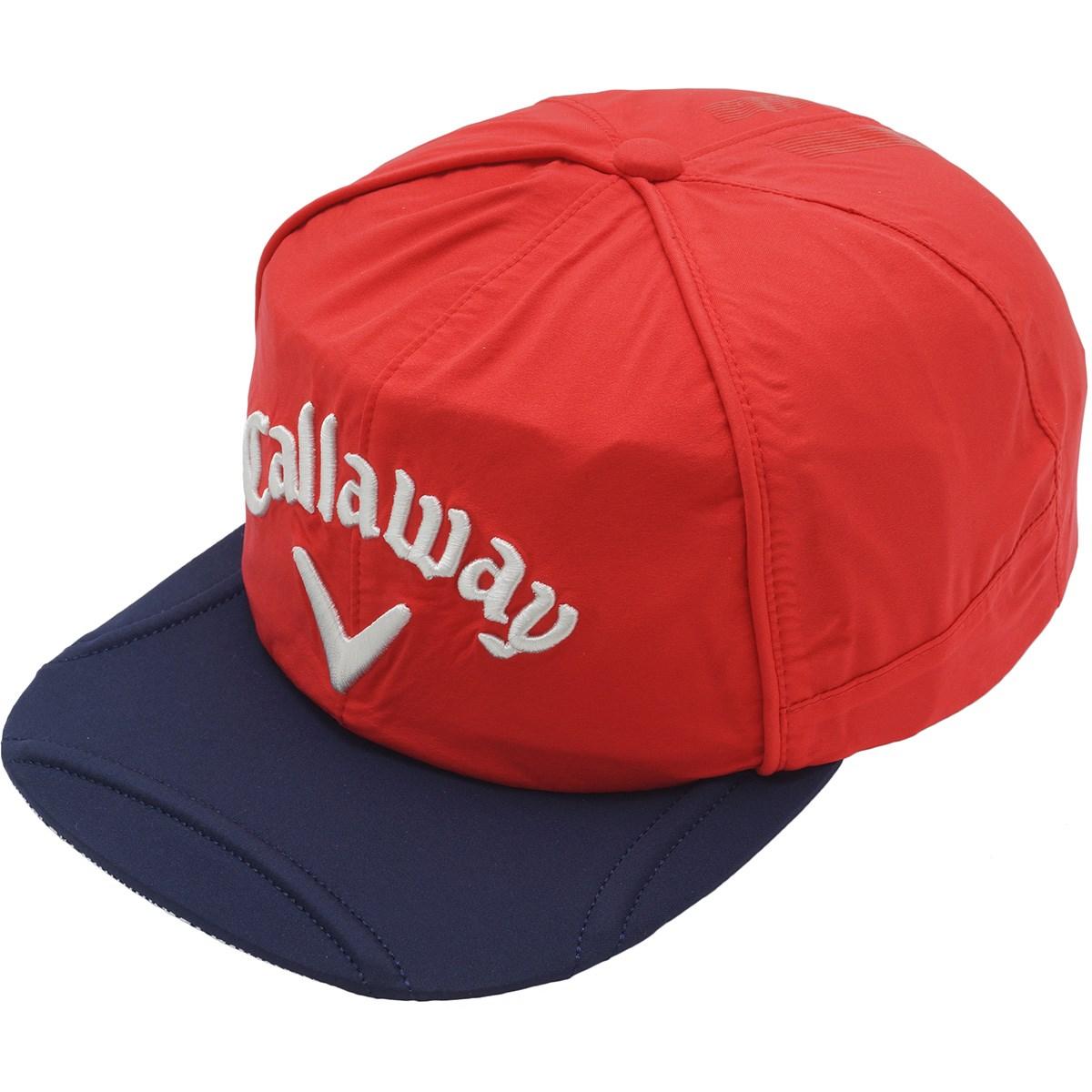 キャロウェイゴルフ Callaway Golf ストレッチ 平つばレインキャップ フリー レッド/ネイビー 100